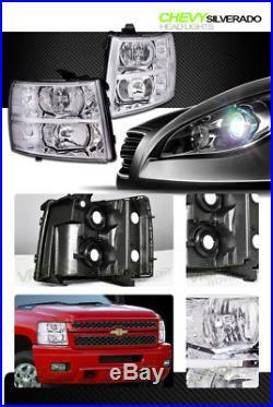 Euro Chrome Headlights Headlamps Parking Turn Signal Lamps Nb 07-13 14 Silverado