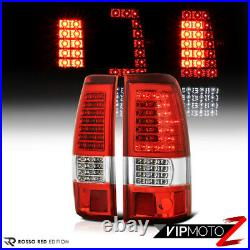 FACTORY RED LED Brake Tail Lamps Pair 2003-2006 Chevy Silverado 1500 2500 3500