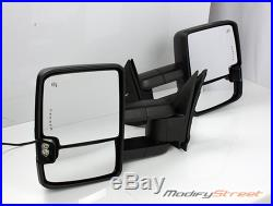 FOR 14-17 CHEVY SILVERADO POWER/HEATED CHROME TOWING SIDE MIRRORS With TURN SIGNAL