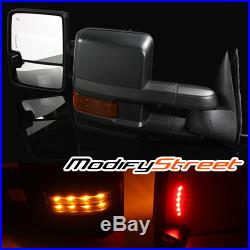 FOR 14-17 CHEVY SILVERADO POWER/HEATED LH/RH TOWING SIDE MIRRORS With TURN SIGNAL