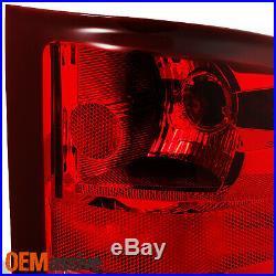 Fit 07-13 Silverado 1500 2500 07-14 Sierra 3500HD Red Clear Tail Lights Lamp L+R