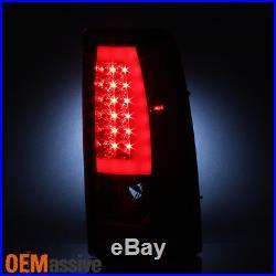 Fit 1999-2002 Chevy Silverado 1500 1999-2006 GMC Sierra Red LED Tube Tail Lights