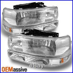 Fit 99-06 Silverado Suburban Tahoe Headlights +Bumper Signal Lights L+R