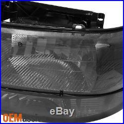 Fit Smoked 99-06 Silverado Suburban Tahoe Headlights +Bumper Lights L+R