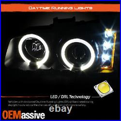 Fits 03-06 Silverado LED Halo Projector Headlights + Bumper Lamps + Fog Lights
