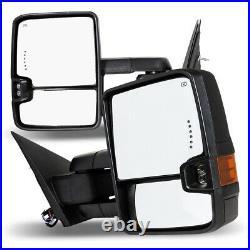 Fits 14-17 Silverado Sierra Side Tow Mirrors PAIR Power Heater + Turn Signals