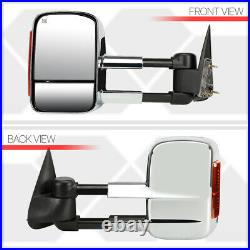 Fits 1999-2002 Sierra/SilveradoPOWER+HEATED+AMBER LEDChrome Towing Side Mirror