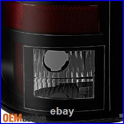 Fits 2003-2006 Chevy Silverado GMC Sierra Black Smoked LED Tube Tail Lights