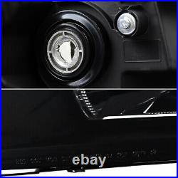 Fits 2007-2014 Chevy Silverado Black Smoked Headlights Lamps Pair Left + Right
