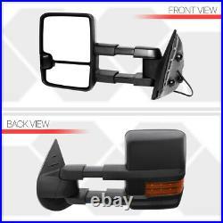 Fits 2007-2014 Sierra/SilveradoMANUAL+AMBER LED+REVERSETowithTowing Side Mirror