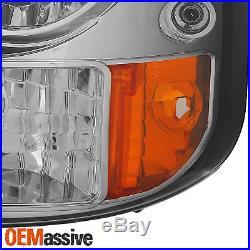 Fits 99-02 Silverado 00-06 Suburban Tahoe 1PC Smoked LED Headlights Signal Lamp