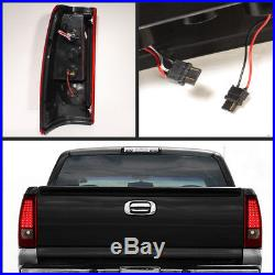 Fits 99-02 Silverado Sierra Pickup Red Clear LED Tail Lights Lamps Left+Right