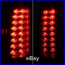 Fits Black Smoke 88-98 C10 C/K Tahoe Sierra Yukon Silverado LED Tail Lights