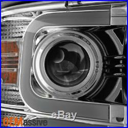 Fits Smoked 15-18 Chevy Silverado 2500HD/ 3500 HD LED Tube Projector Headlights
