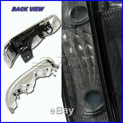 For 00-06 Chevy Suburban 1500 2500 Smoke Headlights+Bumper Clear Reflector Lamps