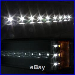 For 03-06 Chevy Silverado LH + RH Black LED CCFL Head Lights + DRL Signal Lights