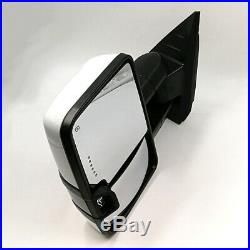 For 03-06 Silverado Painted White Tow Power+Heated+Smoke LED Turn Signal Mirrors