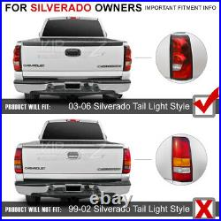 For 03-06 Silverado Truck Factory Style RED/CLEAR LED Tail Light Brake Lamp PAIR