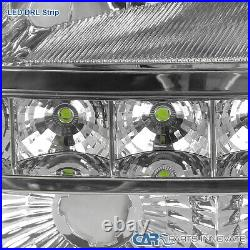 For 03-07 Chevy Silverado Avalanche Clear Headlights Bumper Lamps+SMD LED Strip