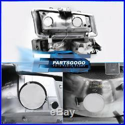 For 03-07 Chevy Silverado LED DRL Black Housing Smoked Lens Reflector Headlights