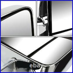 For 03-07 Silverado/sierra Pair Chrome Manual Led Turn Signal Tow Towing Mirror