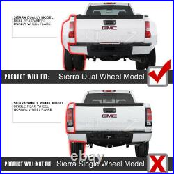 For 07-13 Chevy Silverado 1500 2500HD 3500HD WINE RED LED SMD Rear Tail Light