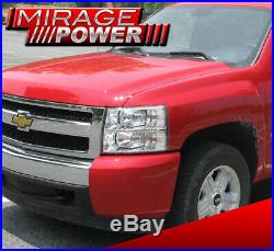 For 07-13 Chevy Silverado Chrome Clear Direct Replacement Headlights Lamp Clear