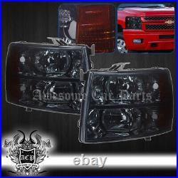 For 07-13 Silverado 1500 2500 3500 Front Bumper Driving Head Lights Signal Lamps