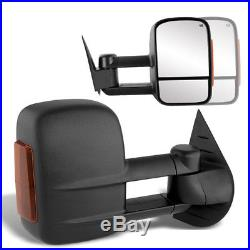 For 07-13 Silverado Tahoe Sierra Power+Heated Towing mirror Side LED Turn SIgnal