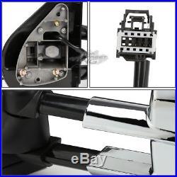 For 07-13 Silverado/sierra Power+heated+turn Signal Towing Side Mirror Chrome