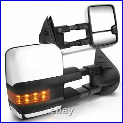 For 07-14 Chevy/GMC GMT900 Manual Extendable Towing Mirrors withAmber Turn Signal