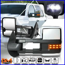 For 07-14 Chevy/GMC GMT900 Power+Heated Towing Side Mirrors withAmber Turn Signal
