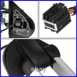 For 07-14 Silverado/sierra Chrome Manual Amber Led Turn Signal Tow Towing Mirror