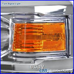 For 14-15 Chevy Silverado 1500 Headlights Turn Signal Lamps Head Lamp Left+Right