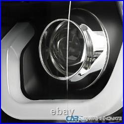 For 14-15 Chevy Silverado 1500 Pickup Black Halo Projector Headlights+LED Signal