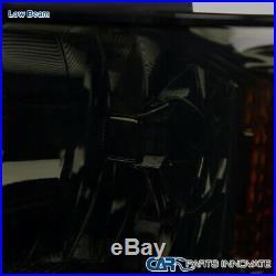 For 14-15 Chevy Silverado 1500 Pickup Smoke Lens Driving Headlights Signal Lamps