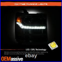 For 16-19 Silverado 1500 HID/Xenon Projector Headlight withLED Parking Passenger