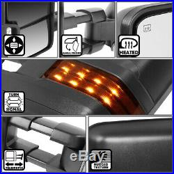 For 1999-2002 Silverado Sierra Pair Power Heated Led Turn Signal Towing Mirror