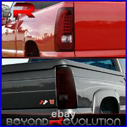 For 1999-2006 Gmc Sierra Smoked Red LED Rear Tail Light Lamp Upgrade Replacement