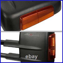 For 1999-2006 Silverado Sierra Pair Black Manual+led Turn Signal Towing Mirror