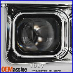 For 19-20 Silverado 1500 Halogen Projector Chrome Headlamp LED Sequential Signal
