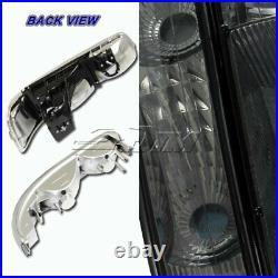 For 2000-2006 Chevy Tahoe Smoke Housing Headlights+Bumper Clear Reflector Lamps