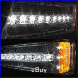 For 2003-06 Chevy Silverado Replacement LED Halo Head Lights + DRL Signal Lights