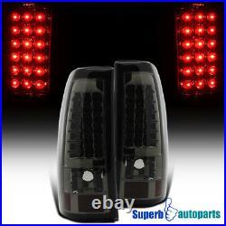 For 2003-2006 03-06 Chevy Silverado Smoke Tail Lights LED Turn Signal Brake Lamp