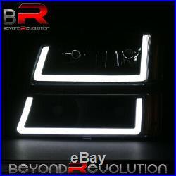 For 2003-2007 Silverado Clear LED DRL Amber Reflector Blk Headlamp Bumper Lights