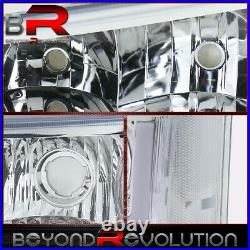 For 2003-2007 Silverado Clear LED DRL Reflectors Headlamps Bumper Lights 2Pieces