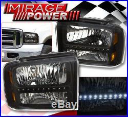 For 2007-2013 Chevy Silverado Chrome Amber Headlamp 3Rd C-Streak Tail Fog Light