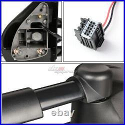 For 2007-2013 Silverado Sierra Pair Black Manual+led Turn Signal Towing Mirror