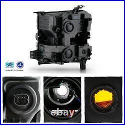 For 2019-2020 Chevy Silverado 1500 Halogen Type witho LED Black Headlamp Passenger