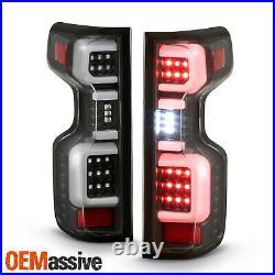 For 2019-2020 Silverado 1500 2020 2500HD / 3500HD LED Type Black Tail Lights